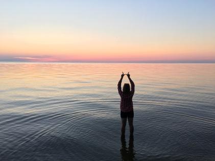 Olivia on Lake Waubesa, Wisconsin