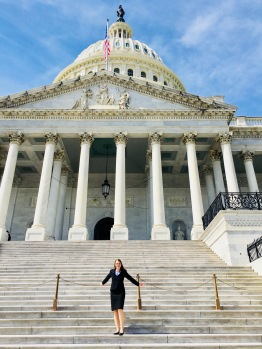 Olivia in D.C. advocating for federal funding for science