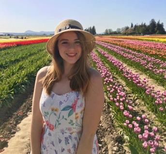 Olivia at the Skagit Valley Tulip Festival